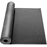 tonchean Garage Floor Rubber Mat 3mm Thickness Heavy Duty Diamond Plate Rubber Mat Non-Slip Flooring...