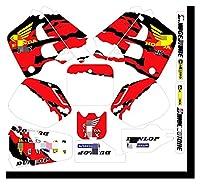 Zhbqcmou MDJC2017-3カスタマイズ3MオートバイデカールステッカーグラフィックグラフィックデカールキットホンダCR125 CR250 1991 1991 hnzhb