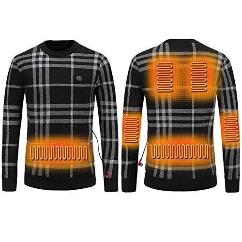 RLYJZ Otoño e Invierno, además de Terciopelo Grueso de Encargo termostato de 37 Grados centígrados Fiebre Yang Ropa de Abrigo, suéter de los Hombres, suéter B-2X