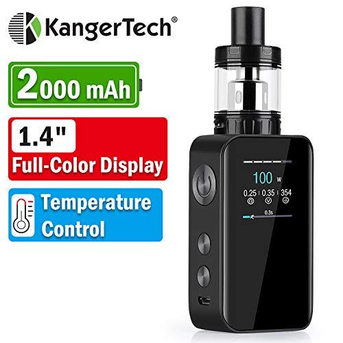 Kangertech E Zigarette Starter Set, 100W 2000mAh Offiziell Kanger Vola, 2ml Verdampfer, 1,4
