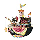 Rolife Dream Hand Crank Music Box with Inner Machine-3D Wooden Puzzle DIY Assemble Toys-Creative Gift for Christmas/Birthday/Valentine's Day for Kids Children Girl Friends (Fishing Cat)