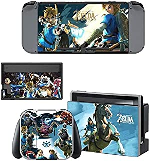 okanhyeu Nintendo Switch Skin Set Play video games HD Printing Faceplate Protective for Console, Controller Skin Decal