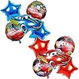 Tomicy Conjunto de Globos de aluminio para auto,Juego de Cumpleaños de Cars Lightning McQueen Party Supplies Car temática Globos,Decoración para Fiestas para Niños Ducha de Bebé Fiesta de Cumpleaños