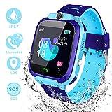 YIYOU Smartwatch Niños, Reloj Inteligente para Niños Impermeable 67 con LBS, Hacer Llamadas, Chat de Voz, SOS, Mejor Regalo para Niño niña de 3 a 12 años Compatible con iOS/Android