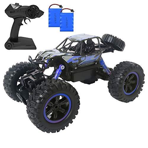 MEYUEWAL RC Ferngesteuertes Auto DE2038 Wasserdicht Car 1:14 Spielzeug mit 2,4 Ghz Fernbedienung,Lange Fahrzeit,High Speed Rennauto Outdoor und Indoor Fahrzeug Modell für Kinder, Mädchen (Blau)
