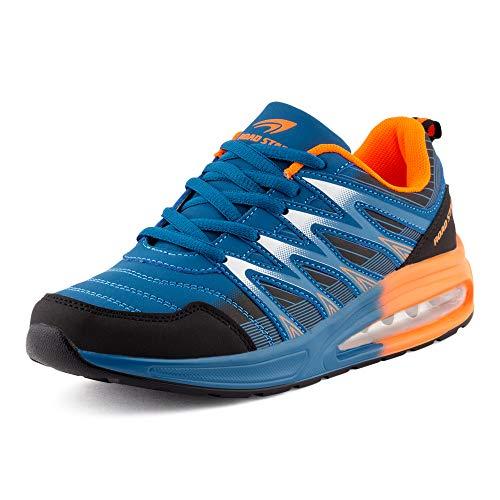 Fusskleidung Herren Damen Sportschuhe Sneaker Dämpfung Laufschuhe Übergröße Neon Jogging Gym Unisex Blau Schwarz Weiß EU 43