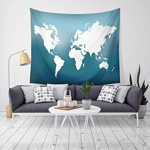 nobranded World Map Tapestry Colorful Watercolor Splatter Art Designs Abstract Painting Wall Hanging Backdrop Blanket For Living Room Bedroom