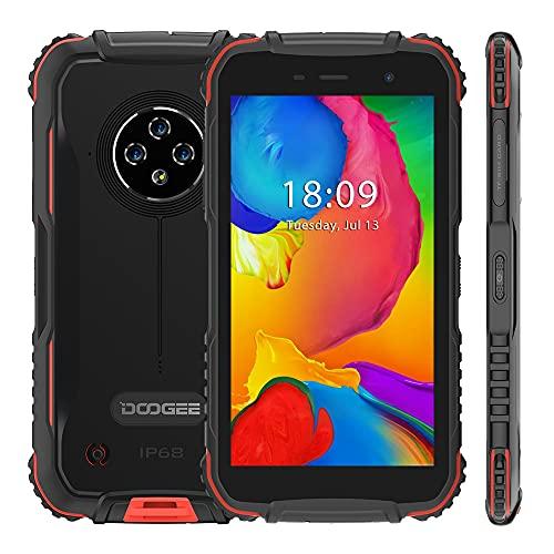 DOOGEE S35 Rugged Smartphone, Android 10 4350mAh Batteria, 2 GB+16 GB, IP68 Cellulare Robusto, 5.0 Pollici HD+, Tripla Fotocamera 13MP, Doppia SIM Facciale GPS WIFI, Rosso