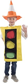 Traffic Light Costume and Safety Cone Hat - for Kids