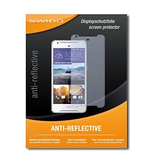 SWIDO Bildschirmschutz für HTC Desire 626G Dual SIM [4 Stück] Anti-Reflex MATT Entspiegelnd, Hoher Festigkeitgrad, Schutz vor Kratzer/Glasfolie, Schutzfolie, Bildschirmschutzfolie, Panzerglas Folie