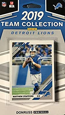 Detroit Lions 2019 Donruss Factory Sealed 12 Card Team Set with Matthew Stafford and Calvin Johnson Plus a TJ Hockenson Rated Rookie and 9 Other Players