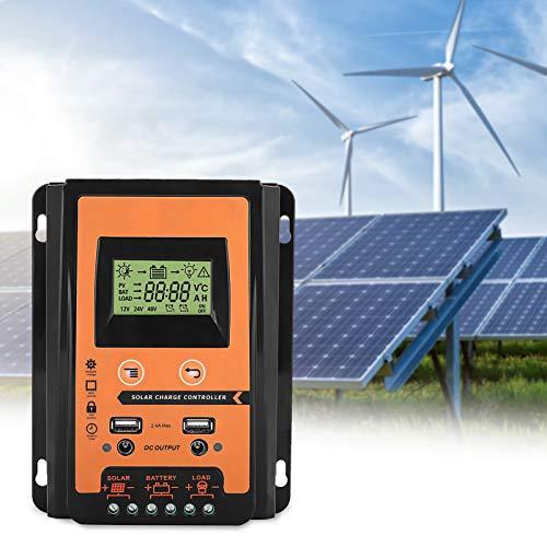 MPPT Controlador de carga solar 12v/24v 30A/50A/70A Panel solar Regulador de batería Controlador de carga Dual USB Pantalla LCD Controlador del cargador de batería de energía solar(30A)