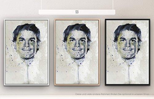 Paul Sinus Art Dexter Splash 90x60cm auf Leinwand im Schattenfugenrahmen Weiss