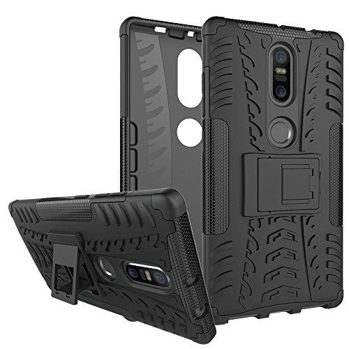 BCIT Lenovo Phab 2 Plus Cover Escabroso Durable Estuche Protector TPU/PC Funda Carcasa Case para Lenovo Phab 2 Plus - Negro