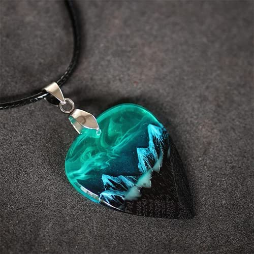 Northern Lights Challenge the lowest price Guitar Epoxy Pick Necklace Dedication