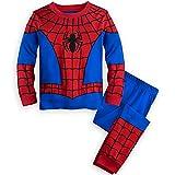 GERGER BO Spiderman Pajamas,Boys Pajamas Kids Short Sets 100% Cotton Clothes Cartoon Sleepwears Redblue