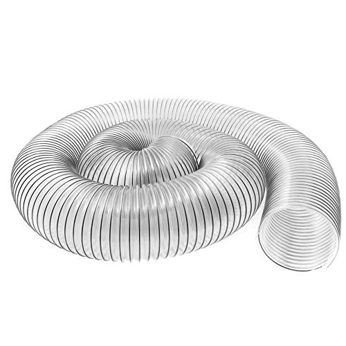6' x 10' (6 inch diameter by 10 feet long) Ultra-Flex Clear Vue Heavy Duty PVC Dust, Debris and Fume Collection Hose - MADE IN USA!