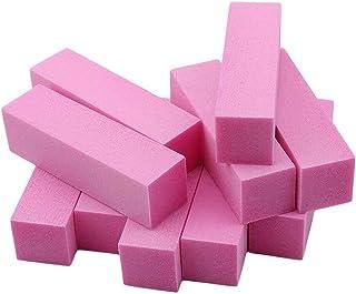 10pcs 4 Way Nail Buffer Block, Natural Sanding Sponge Nail Buffers Files Block Grinding Polishing Manicure Pedicure Nail A...