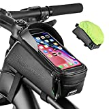 ROCKBROS Bike Phone Bag Bike Pouch Top Tube Bag Bicycle Front Frame Bag Waterproof Bike Accessories Bag Phone Holder Compatible with iPhone Xs Max 11 Pro Plus, Samsung S10