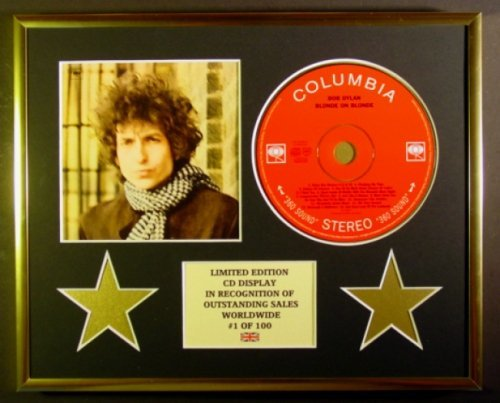 Bob Dylan CD-Display, Limitierte Auflage, Coa/Blond auf Blond
