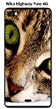 Coque Wiko Highway Pure design Chat tigre