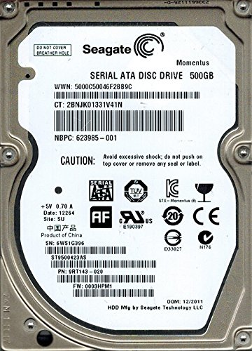Seagate ST9500423AS P/N: 9rt143–020F/W: 0003hpm1500GB SU