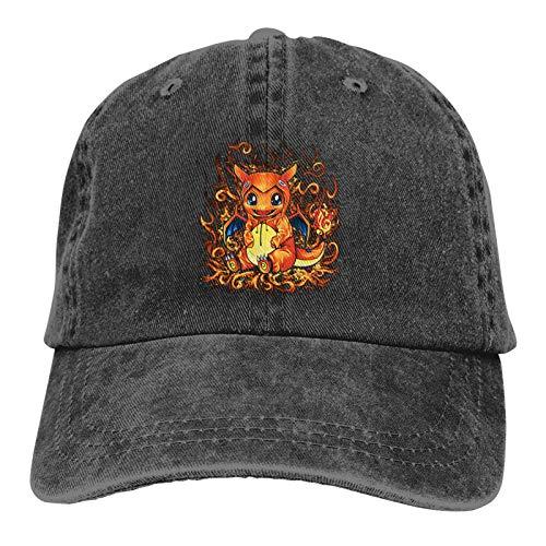 JujubeZAO Gorra de béisbol de Vaquero Retro Ajustable Sombrero Unisex para Adultos al Aire Libre Sombrero para el Sol Sombrero de Camionero Sombrero de papá Char-Mander