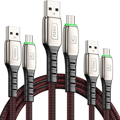 Micro USB Cable INIU 3 Pack 3 1A Quick QC3 0 Fast Charging Micro Phone Charge 1 6 3 3 6 6ft product image
