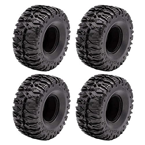 WYDM 4 Uds 2,2 Pulgadas neumáticos de Rueda de Goma para 1:10 RC Escalada SCX10 TRX4 TRX6 90056 90045 90031 90020