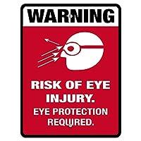 エンジニアグレード反射、必要な目の傷害の危険性の目の保護が必要、コーヒーのオフィスのプールヤードの公衆トイレの駐車場の家の壁の装飾、ビンテージアートポスター、家の壁の装飾のアート装飾