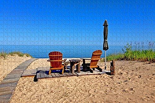 El lago Huron,Michigan,estados UNIDOS de 1000 Pieza de Rompecabezas Juego de Puzzle de obras de Arte para Adultos,actividades para Adultos y Niños Juegos Educativos en la Decoración del Hogar