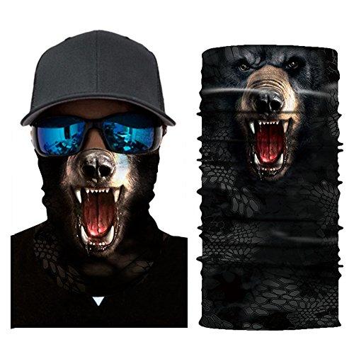 Aesy Deportes Cara Máscara, Bufanda de Ciclismo, Al Aire Libre 3D Animal Tigre Impreso Rápido Seco Quitasol Sweatband Banda para el Cabello Cabeza Bufanda (A25)
