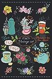 DIARIO DE TÉ. VINTAGE SET: Lleva un registro y seguimiento detallado de tus infusiones: Marca, Variedad, Origen, Sabor, Preparación... | Regalo creativo para los amantes del té.