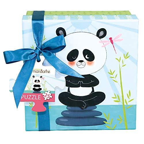 Avenue Mandarine PU008O - Un puzzle 25 pièces et un poster 25x25 cm servant de guide, Panda