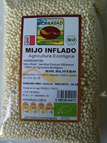 Bioprasad - Mijo Inflado Bio 100 Gramos - Sin Gluten Sin Lactosa - Procedente De Agricultura Ecológica