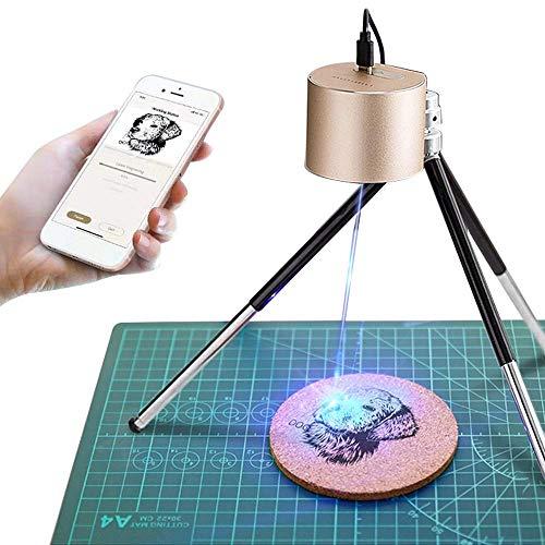 LaserPeckerレーザー彫刻機 1600mW 小型レーザー刻印機 手軽 高性能高解像度 DIY道具 加工機 無線Bluetooth/iOS/Android/USB接続用 使用寿命連続10,000時間以上 色々な素材 ギフト 保護メガネ付き アプリ操作