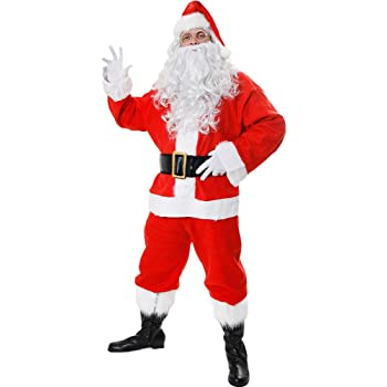 Père Noël Santa Claus Gold Bell Fancy Dress Party Accessoires Costume