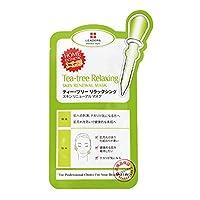 日本限定版 国内正規品 LEADERS リーダース ティー・ツリーリラックシング スキンリニュアル マスク 1枚 25ml 敏感肌 皮脂ケア
