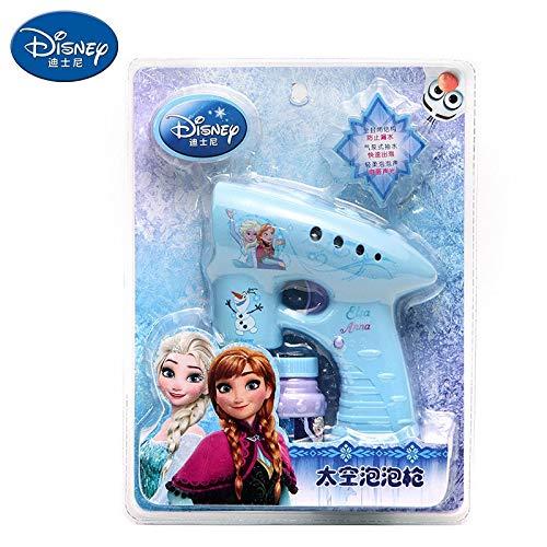 LIZHIOO Bubble Machine Filles de Neige gelée Elsa Anna Bulles Cartoon Voitures Machine Disney Outdoor Fun Maker Summer Party Outdoor Toy ( Color : B )