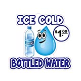Ice Cold Bottled Water Concession Restaurant Food Truck Die-Cut Vinyl Sticker 10 inches
