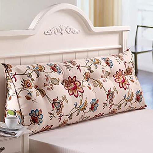 Canvas Driehoekig kussen, zacht roller, stereo op het bed kussen achterkant van de bank tatami-mat, twee personen lang kussen