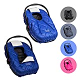 Cozy Cover Premium Infant Car Seat Cover (Blue) with Polar Fleece -...