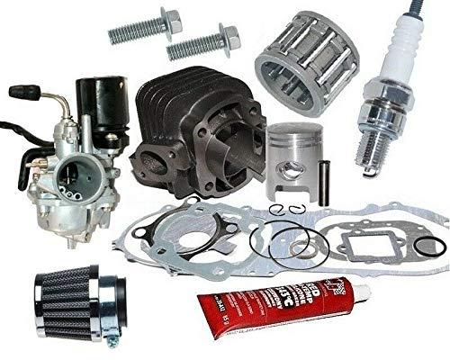 UNTIMERO 50ccm Zylinder KIT 40mm Set VERGASER für Explorer Race GT 50 2T Zylinderkit