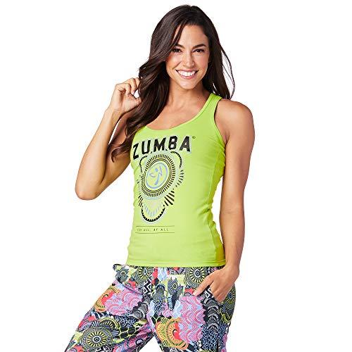 Zumba Fitness Entrenamient Racerback Tank Top Mujer Active Top Deportivo De Moda, Zumba Green 2, XS