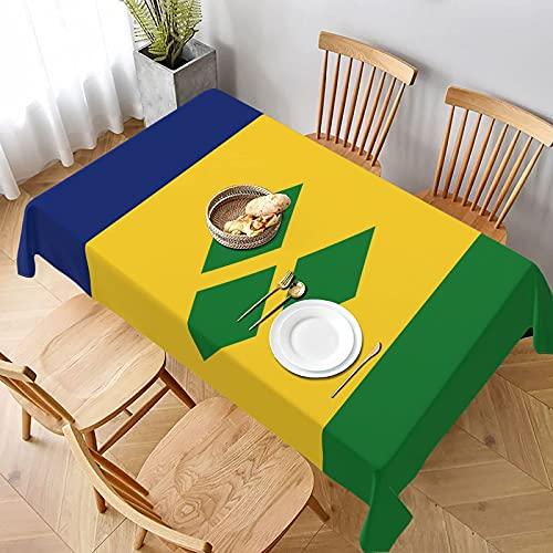 DJNGN Tischdecke mit Flagge von Saint Vincent & die Grenadinen, rechteckig, für Familien, Küche, Picknick, Tischtuch