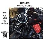 Faro a led moto Guzzi V7 I II III V9 Audace