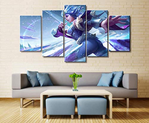 Auua 5 Gemälde auf Leinwand, 5 Elemente, Ehering, Spiel, Leinwand, Dekoration, Wandbild, HD-Foto, Illustration