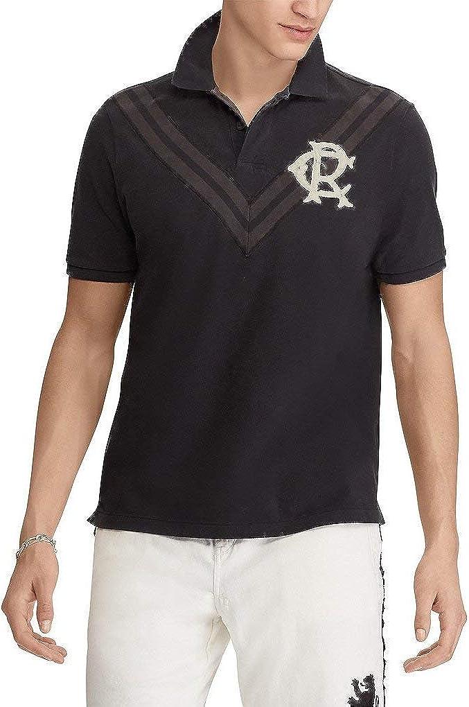 Polo Ralph Lauren 2021 Milwaukee Mall new Mens Chevron Cotton M Black Shirt