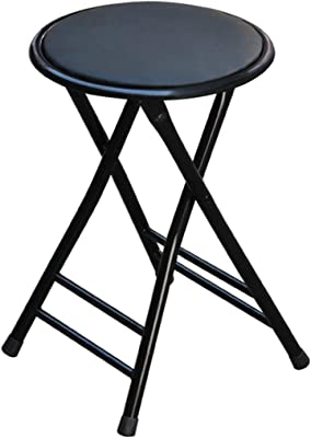 Amazon.com: bar stool Folding High Stool Steel Frame PU Seat ...