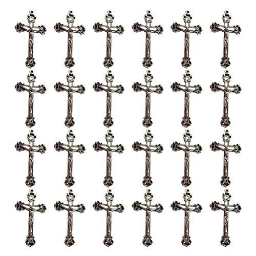 Healifty 50 piezas jesus cruz encanto colgante tibetano antiguo plata encantos colección de cuentas para joyería diy haciendo hallazgos